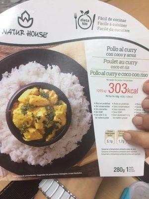 Poulet au curry coco et riz - Product