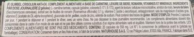 Slimbel Crisolium Anti-Ox - Ingrédients - fr