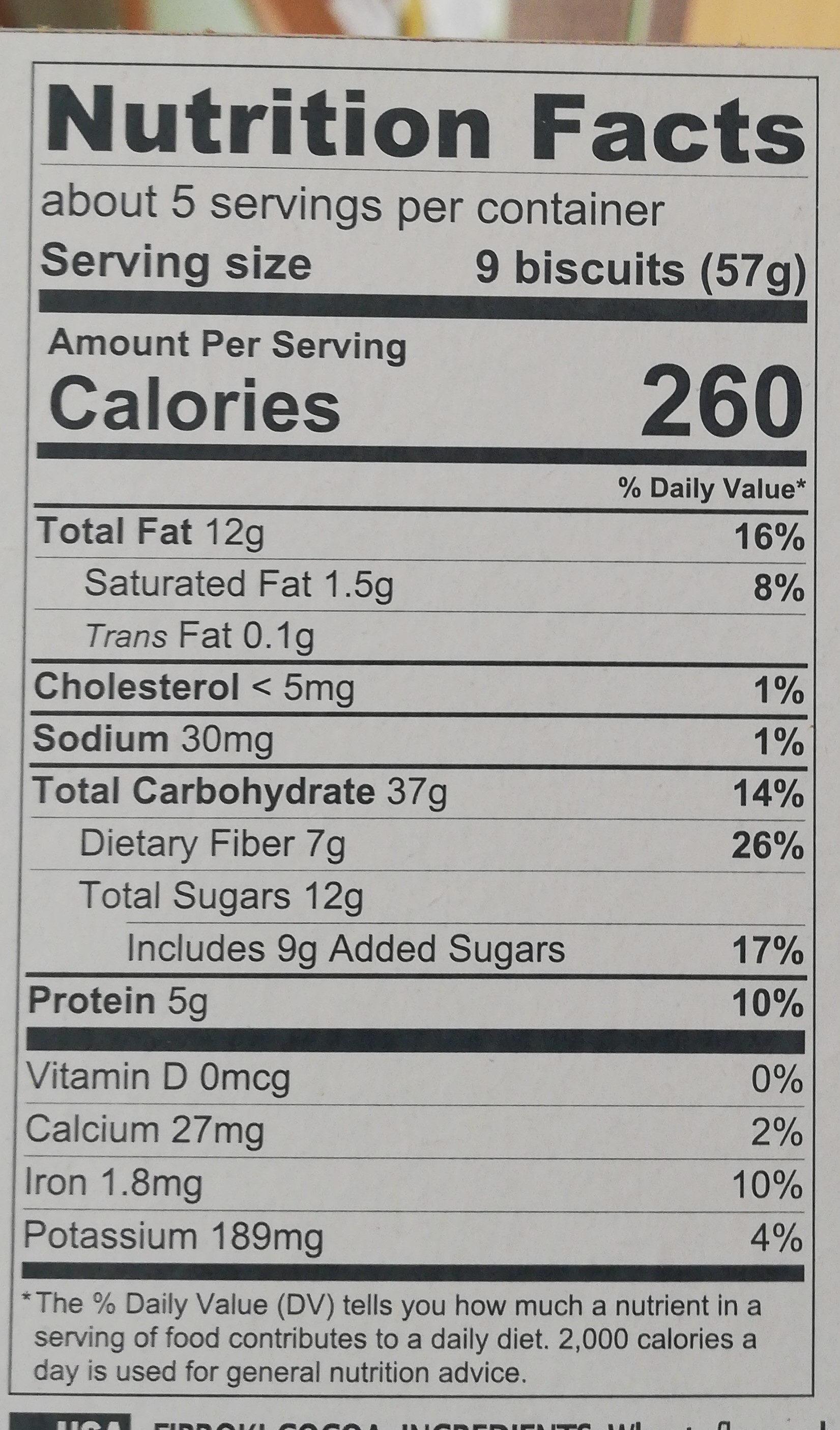 Fibroki Cacao - Información nutricional - fr