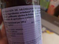 Mermelada De Arandanos Bio - Ingrediënten