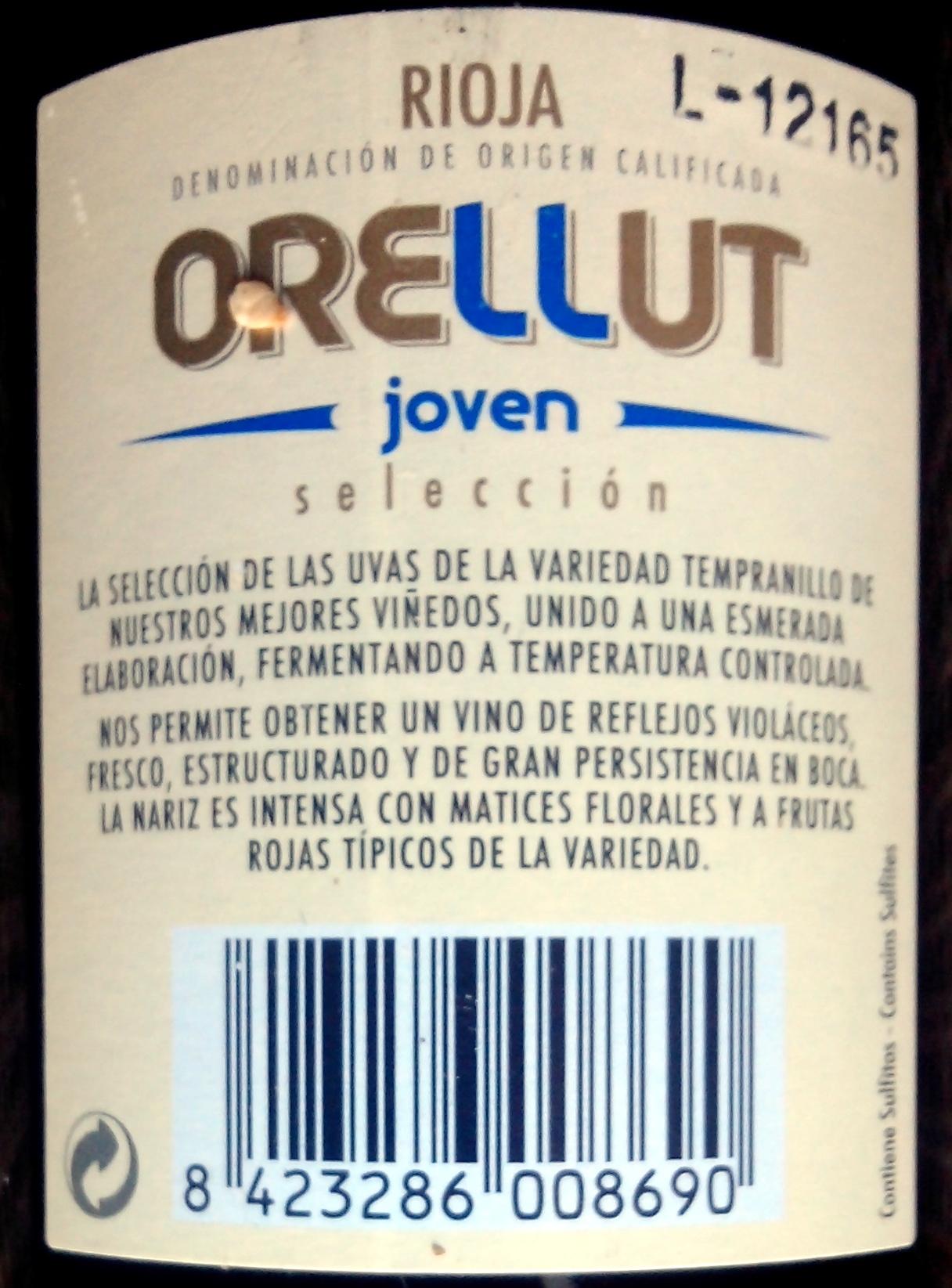 Orejudo ORELLUT 2011 - Ingredientes