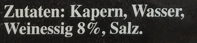 Kapern in Weinessig - Ingredients - de