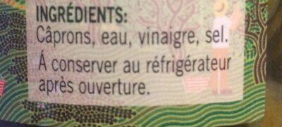 Câprons au vinaigre - Ingredients