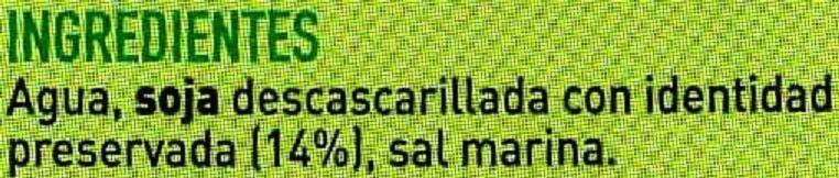 Bebida de soja - Ingredients