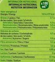 Bebida de soja - Nutrition facts