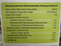Bebida de arroz y avellanas - Información nutricional