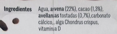 Bebida choco avena - Ingredients - es