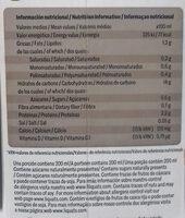 Bebida de Chocoavena sin azúcares añadidos - Informació nutricional