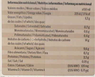 Bebida de choco avena - Nutrition facts - es