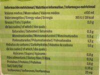 Bebida de Soja Ecologica - Información nutricional - es