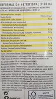 Bebida de avena +calcium - Informació nutricional - ca