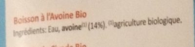 Boisson à l'Avoine - Ingredients
