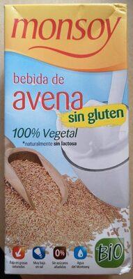 Bebida De avena Sin Gluten Bio Monsoy - Producto