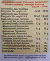 Bebida de avena con almendras - Voedingswaarden - es
