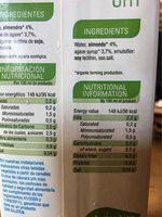 Bebida de Almendra / Almond drink - Informations nutritionnelles - fr