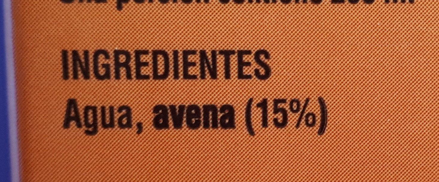 Bebida de avena - Ingredientes - es