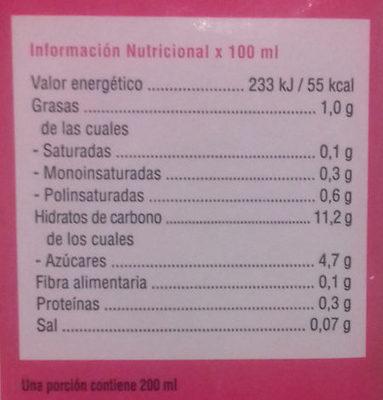 Bebida de arroz - Nutrition facts - es