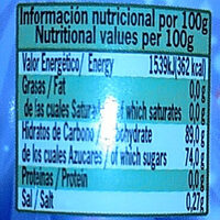 Jelly beans - Nutrition facts - es