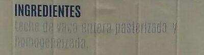 Leche fresca entera pasteurizada - Ingredients