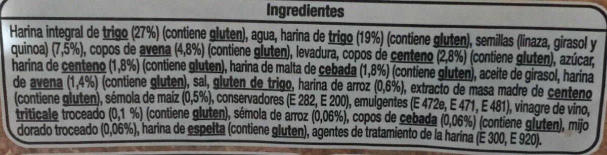 12 cereales y semillas - Ingredientes