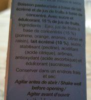 Zumo+Leche Caribe - Ingredients - fr