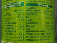 Energy Drink - Información nutricional - es