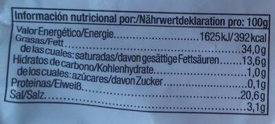 Chorizo extra pikant - Informations nutritionnelles - de