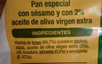 Regaña Auchan - Ingredientes - es