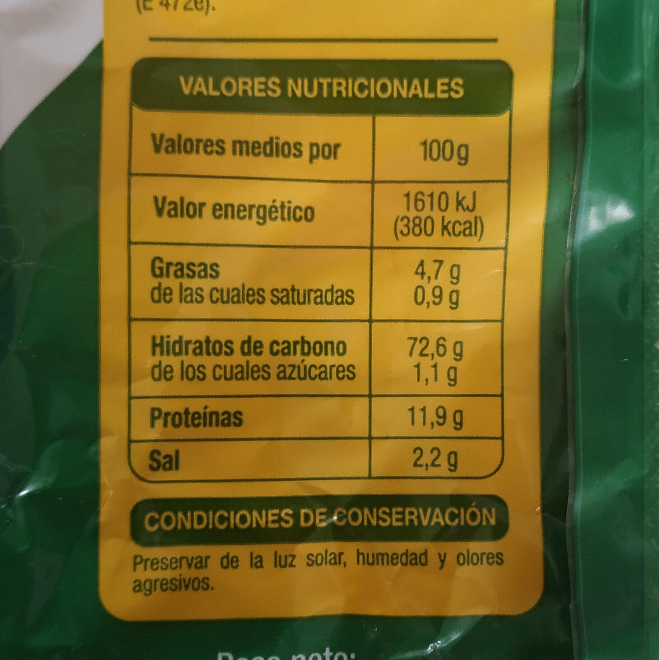 Regaña Auchan - Información nutricional - es