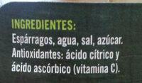 Espárragos Cortos Blancos Delgados Extra - Ingredients - es