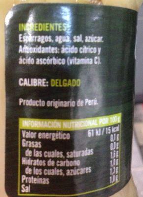 Asperges - Ingredientes