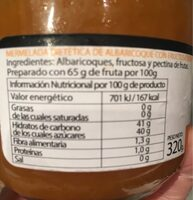 Mermelada dietetica - Información nutricional