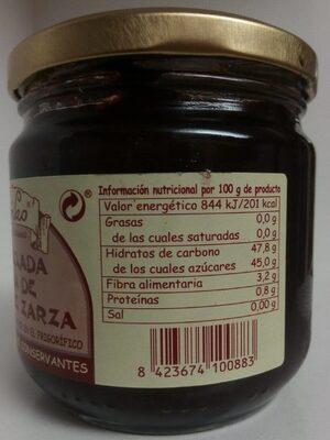 Mermelada extra de mora de zarza - Nutrition facts - es
