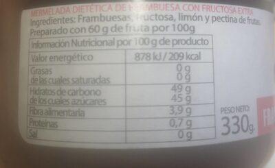Mermelada dietetica - Voedingswaarden - es