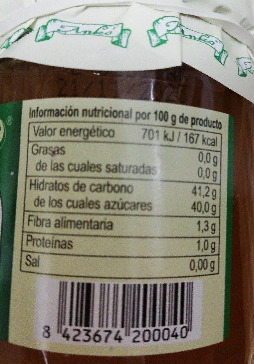 Mermelada ecológica de Albaricoque extra - Voedingswaarden - es