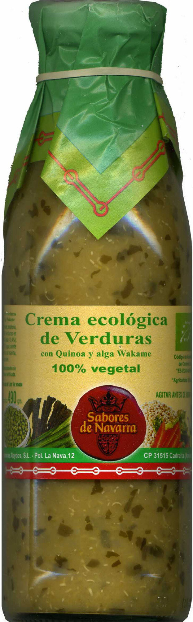 Crema ecológica de verduras (descatalogado) - Produit - es