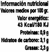 Crema de calabaza - DESCATALOGADO - Voedingswaarden