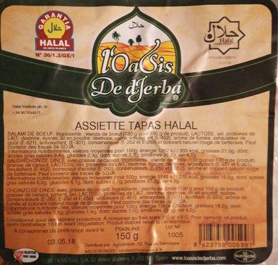 Assiette tapas halal - Ingrédients - fr
