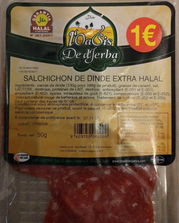 Salchichon de dinde extra halal - Produit - fr