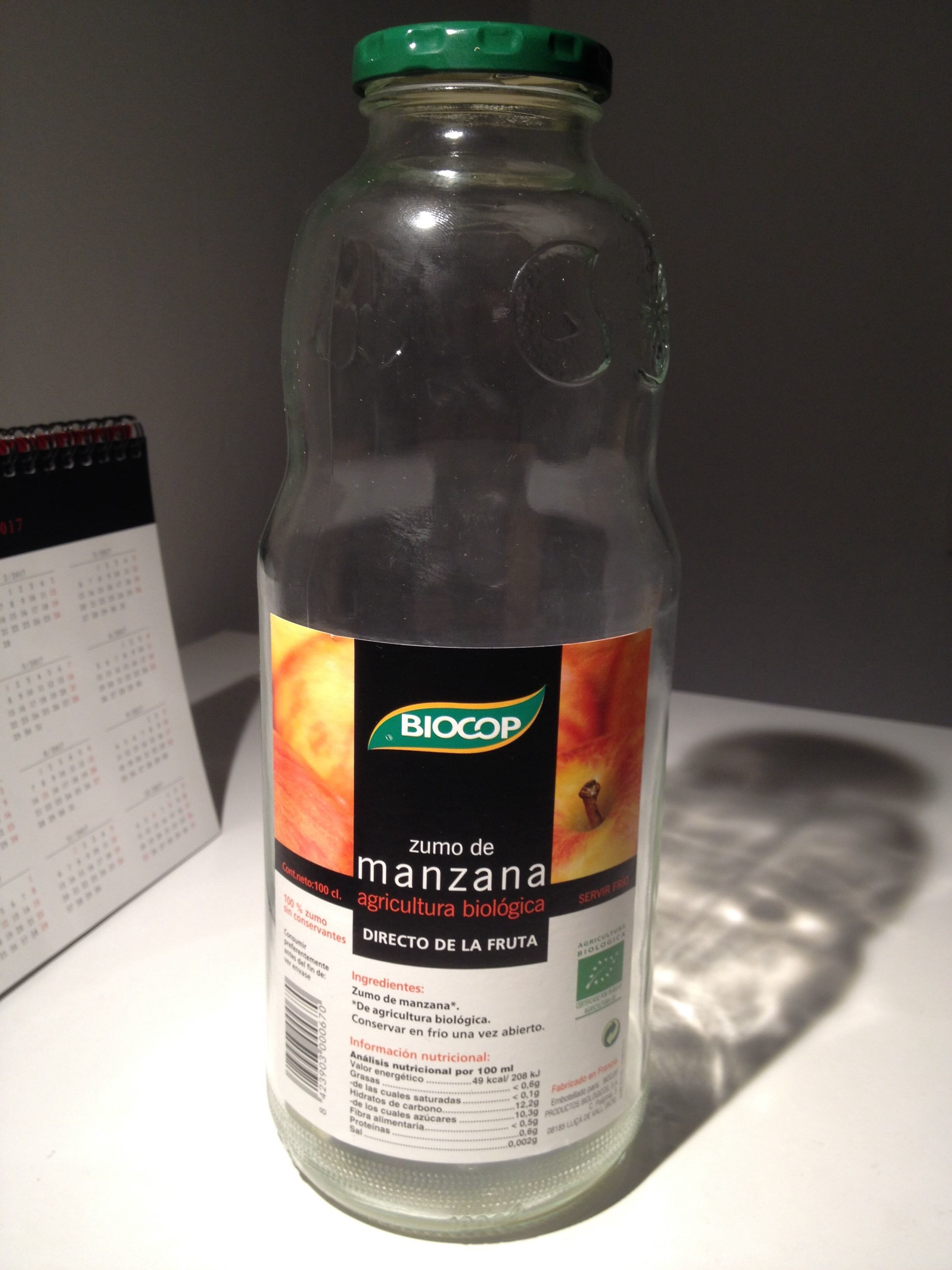 Zumo de manzana agricultura biológica - Product - es