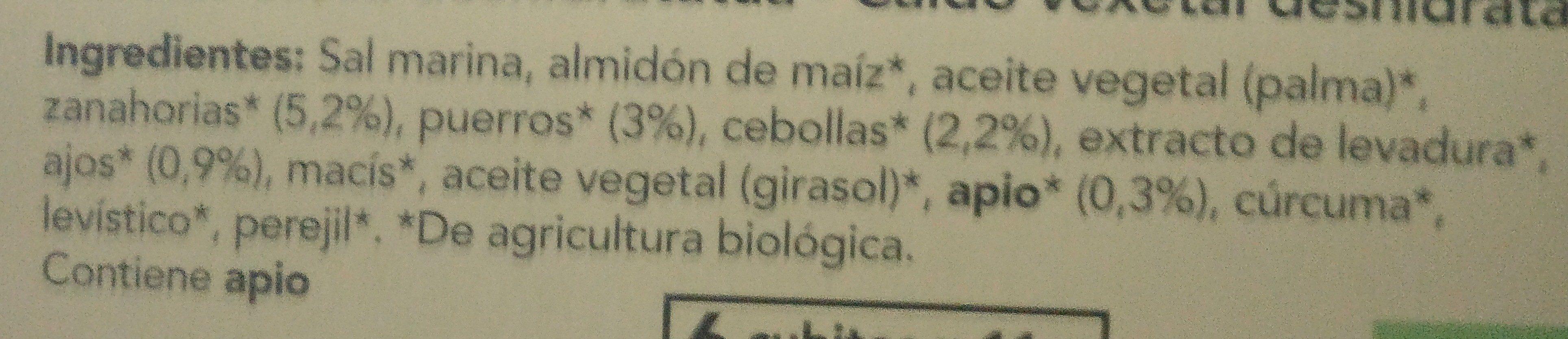 Caldo vegetal - Ingredients