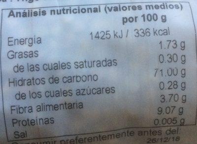 Trigo sarraceno - Voedingswaarden - es