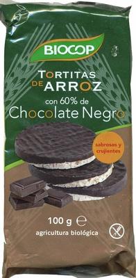 Tortitas de arroz con 60% de chocolate negro - Product - es