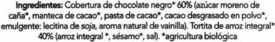 Tortitas de arroz con 60% de chocolate negro - Ingredients - es