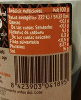 Salsa De Soja Tamari - Informació nutricional