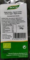 Alga Kombu - Informació nutricional - es