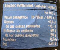 Compota de Arandanos - Voedingswaarden