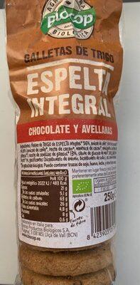 Galletas de espelta integral chocolate y avellanas