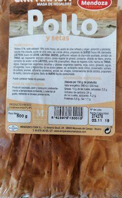 Empanada pollo y setas