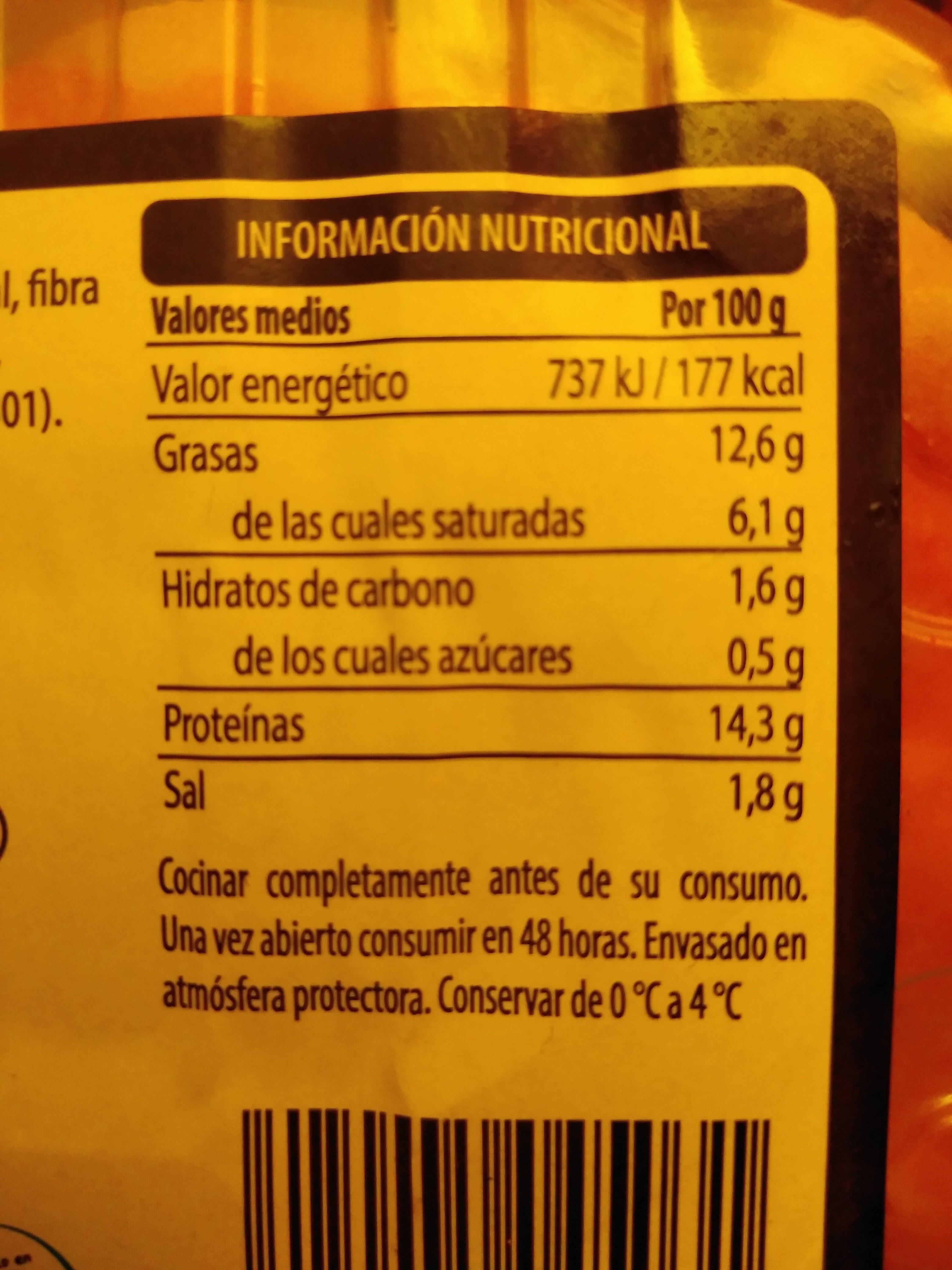 Burguer meat vacuno - Voedigswaarden
